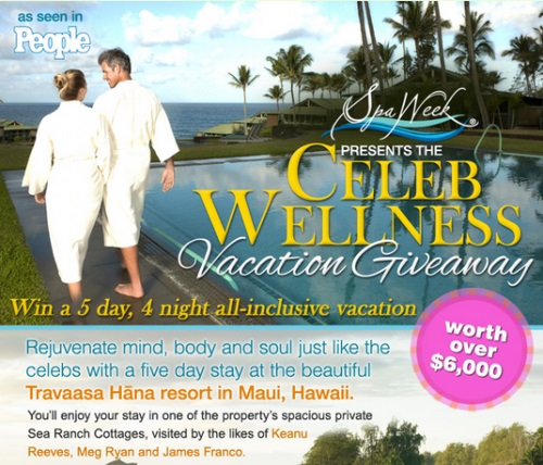 Spa Week Presents the Celeb Wellness Vacation Giveaway